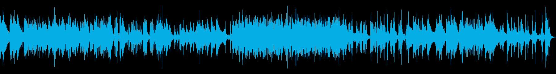 アップテンポなジャズピアノトラックの再生済みの波形