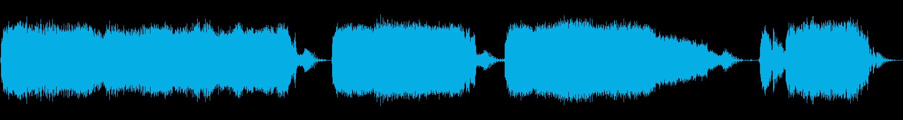 ロータリーハンマー:作業の再生済みの波形