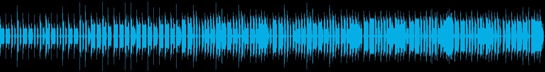8bitでゆるい感じの始まりそうなBGMの再生済みの波形