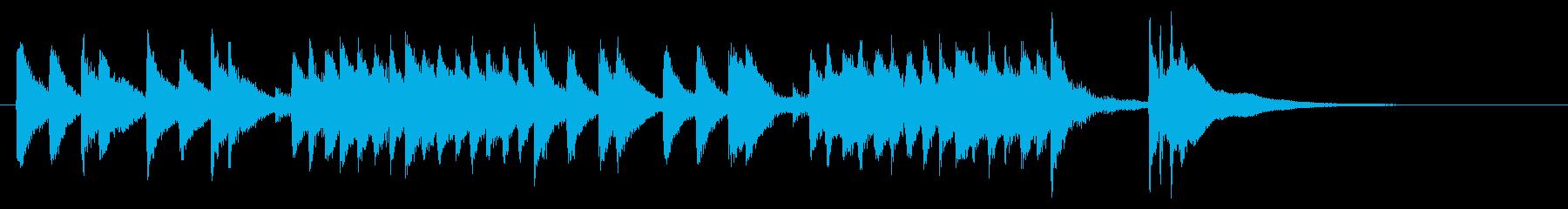 三味線による和風ジングル 12秒の再生済みの波形