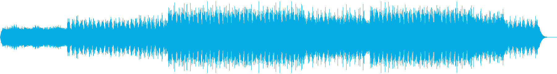 近未来的なテクノBGMの再生済みの波形