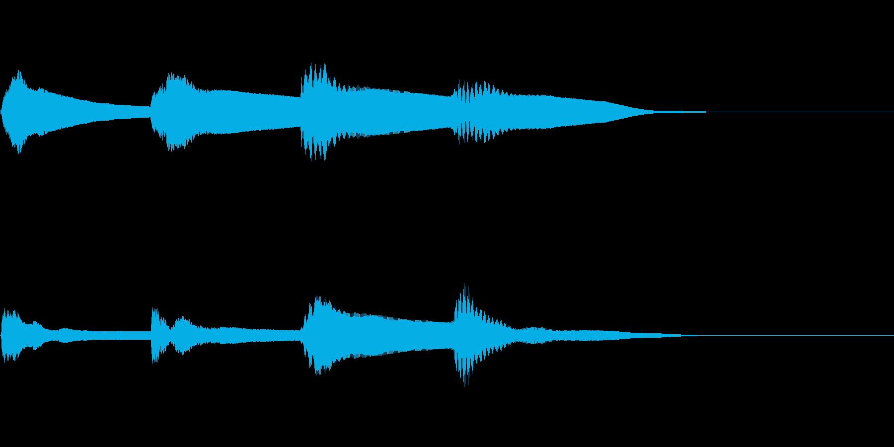 アナウンスのピンポンパンポンの音2 下降の再生済みの波形