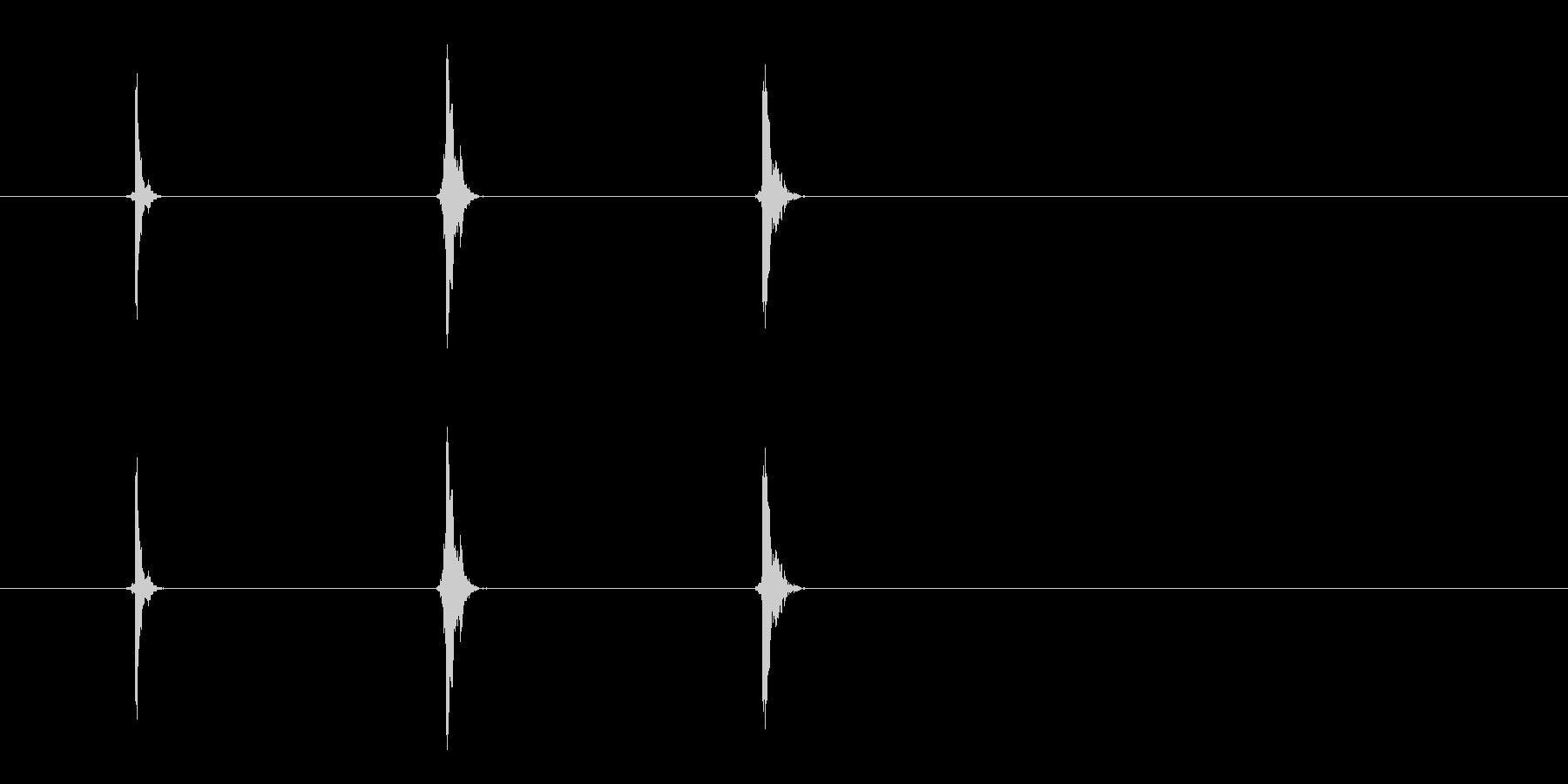 矢印の影響(3x); 3つの個別の...の未再生の波形