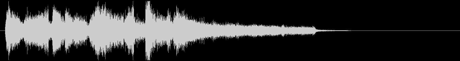 ジャズのアイキャッチ、気持ち良いスイングの未再生の波形