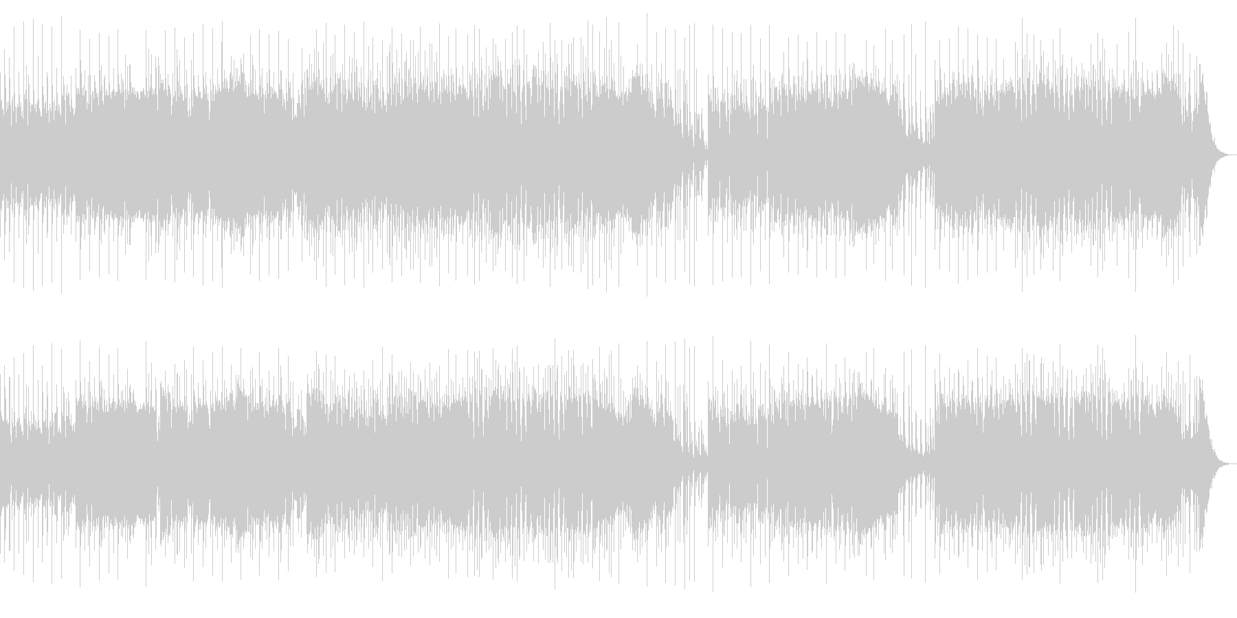 勢いのある熱いインストルメンタルロックの未再生の波形