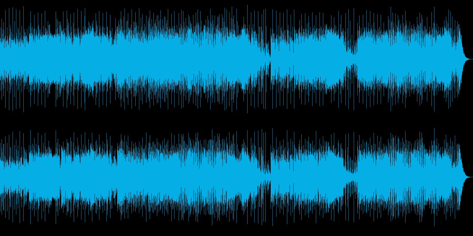 勢いのある熱いインストルメンタルロックの再生済みの波形