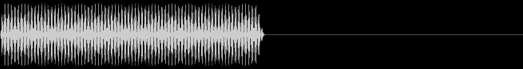 『ピッ』電話のプッシュ音(2)-単音の未再生の波形