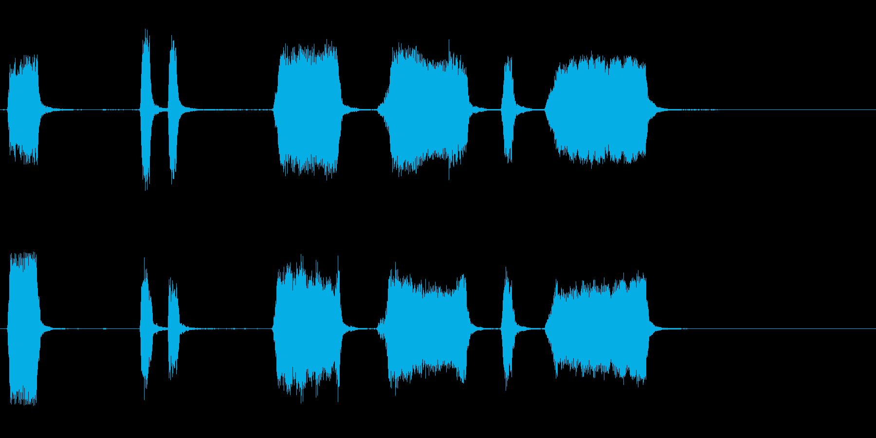エアホイッスルアンティーク2をトレ...の再生済みの波形