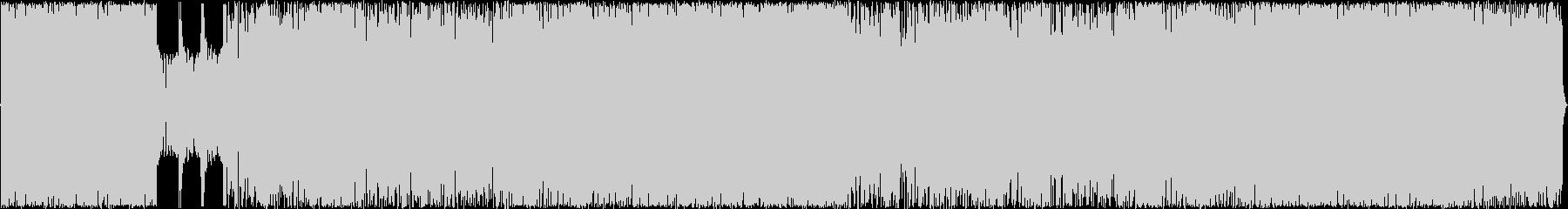 アップテンポのメロコアオケ風楽曲の未再生の波形