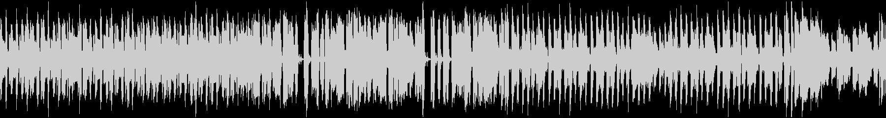 素朴でのんびりした曲_ループの未再生の波形