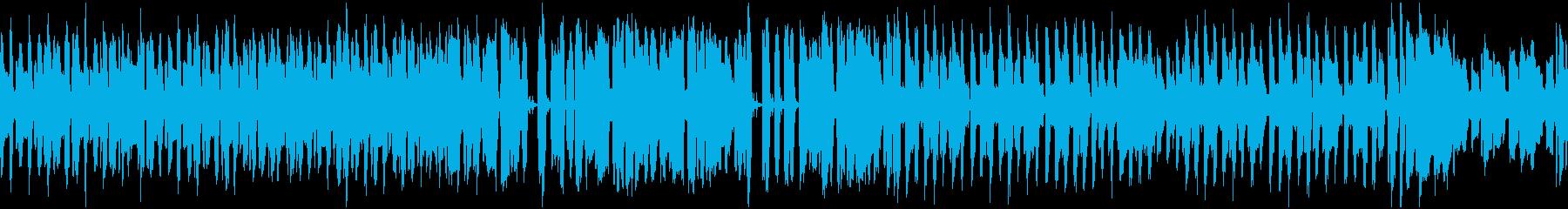 素朴でのんびりした曲_ループの再生済みの波形