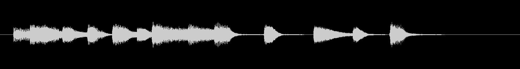 明るいジャズのピアノソロジングルの未再生の波形