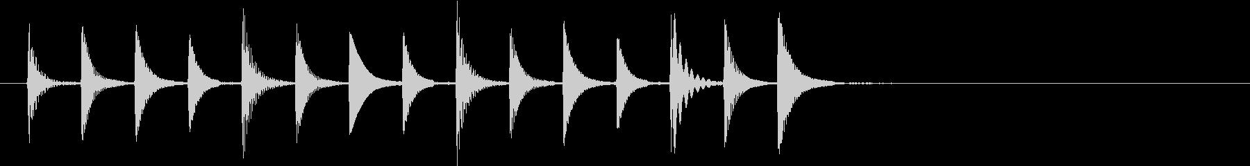 電子音の不思議なイメージのSEの未再生の波形