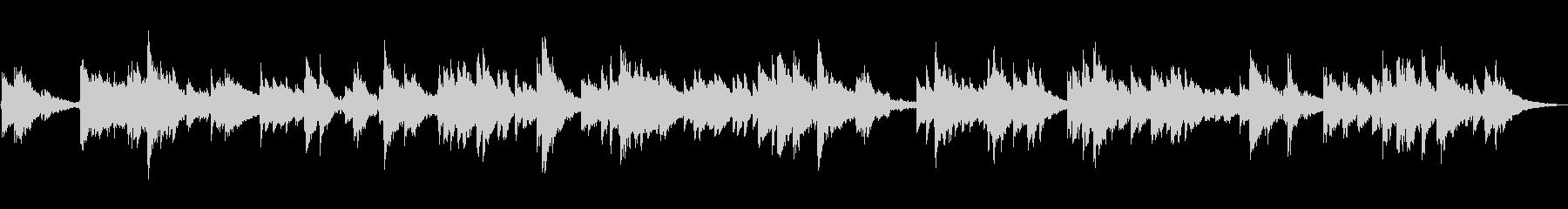 静かな池のエレクトリックピアノの未再生の波形