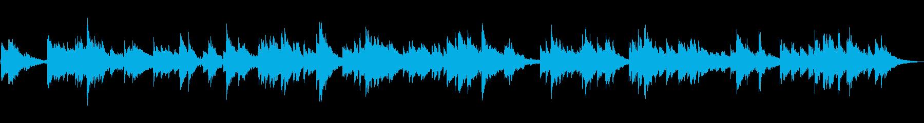 静かな池のエレクトリックピアノの再生済みの波形