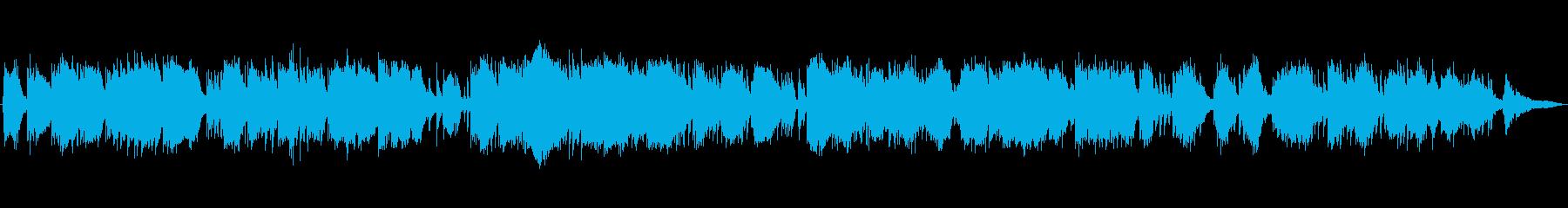 静かなピアノソロ即興演奏の再生済みの波形