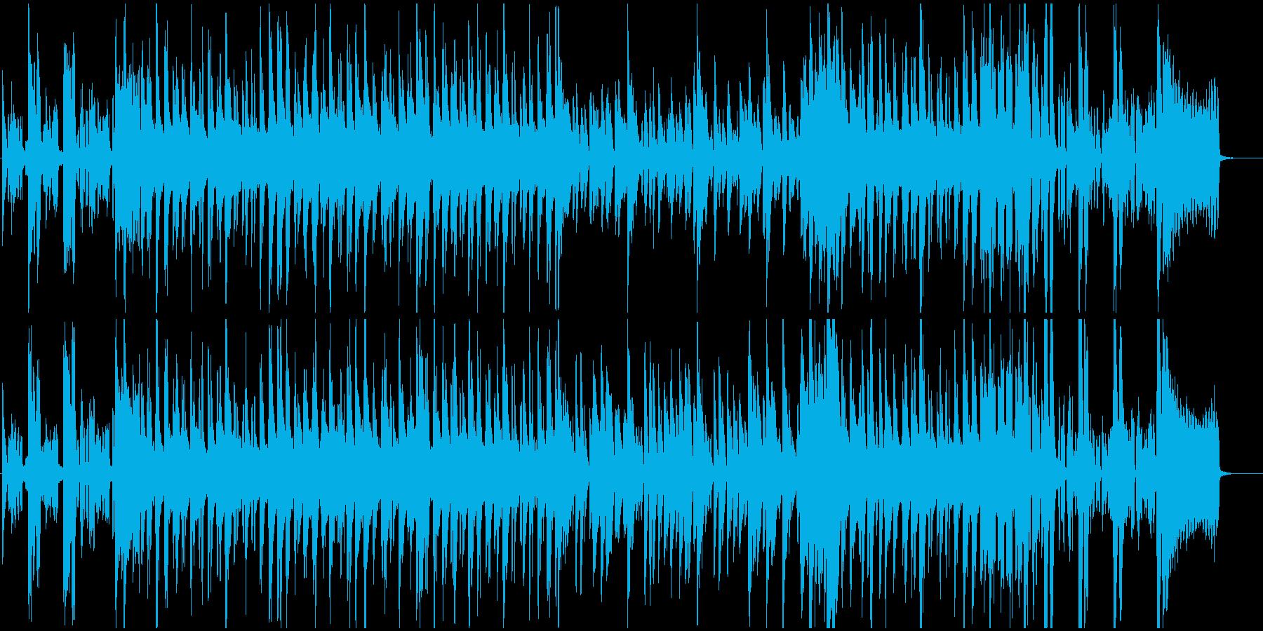 ブルース、ジャズ調ほのぼのBGMの再生済みの波形