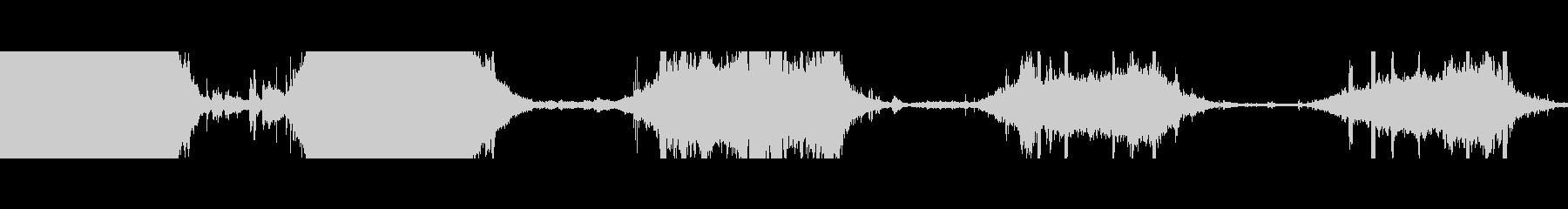 電車の地下鉄車のインテリアbの未再生の波形