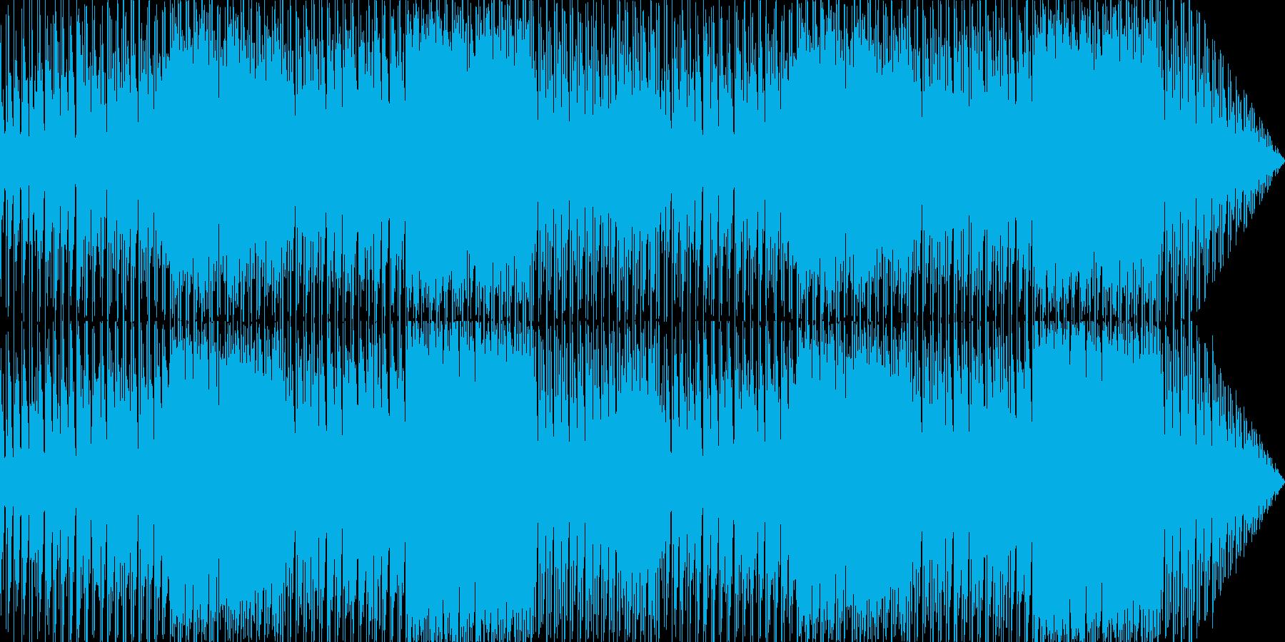異国の高原をイメージした楽曲の再生済みの波形