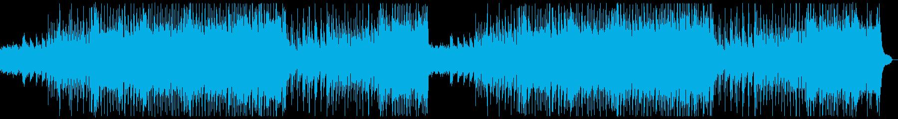 明るいフォークギターポップス:フルx2の再生済みの波形