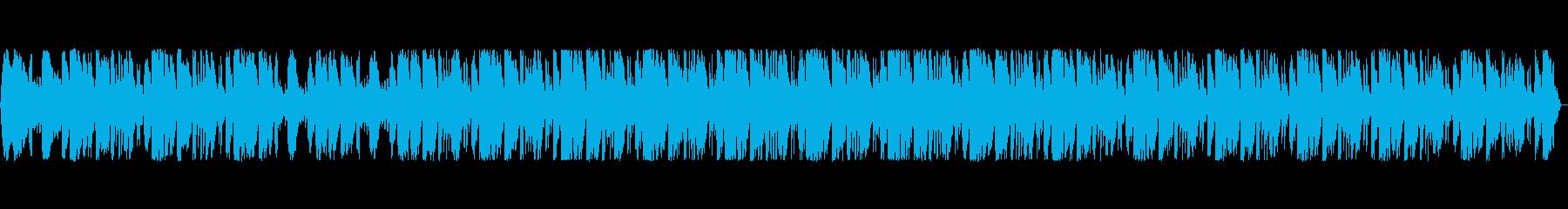 シンセサイザーを使った近未来的なポップスの再生済みの波形