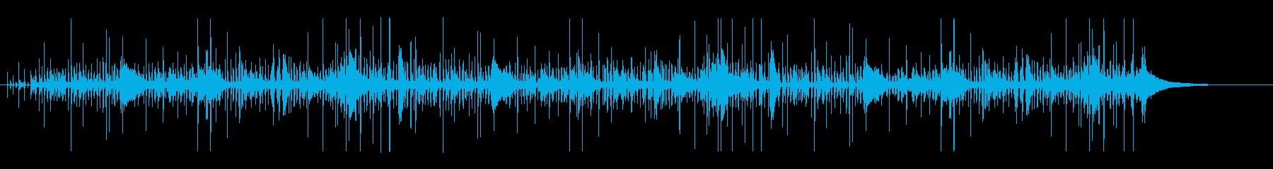 速いテンポのジャズ系ドラム/01-01の再生済みの波形