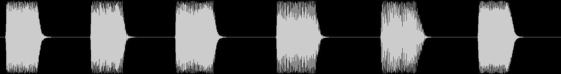 効果音。ピロリロ音(ゲーム音)の未再生の波形