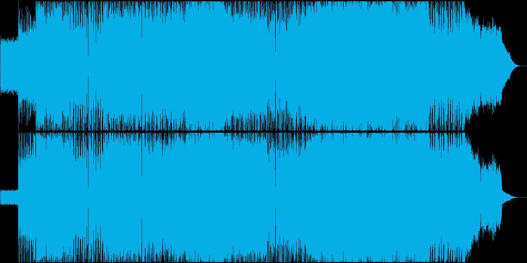【生演奏】ギターリフが印象的なロックの再生済みの波形