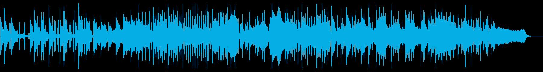モダンなリズムの「もろびとこぞりて」の再生済みの波形