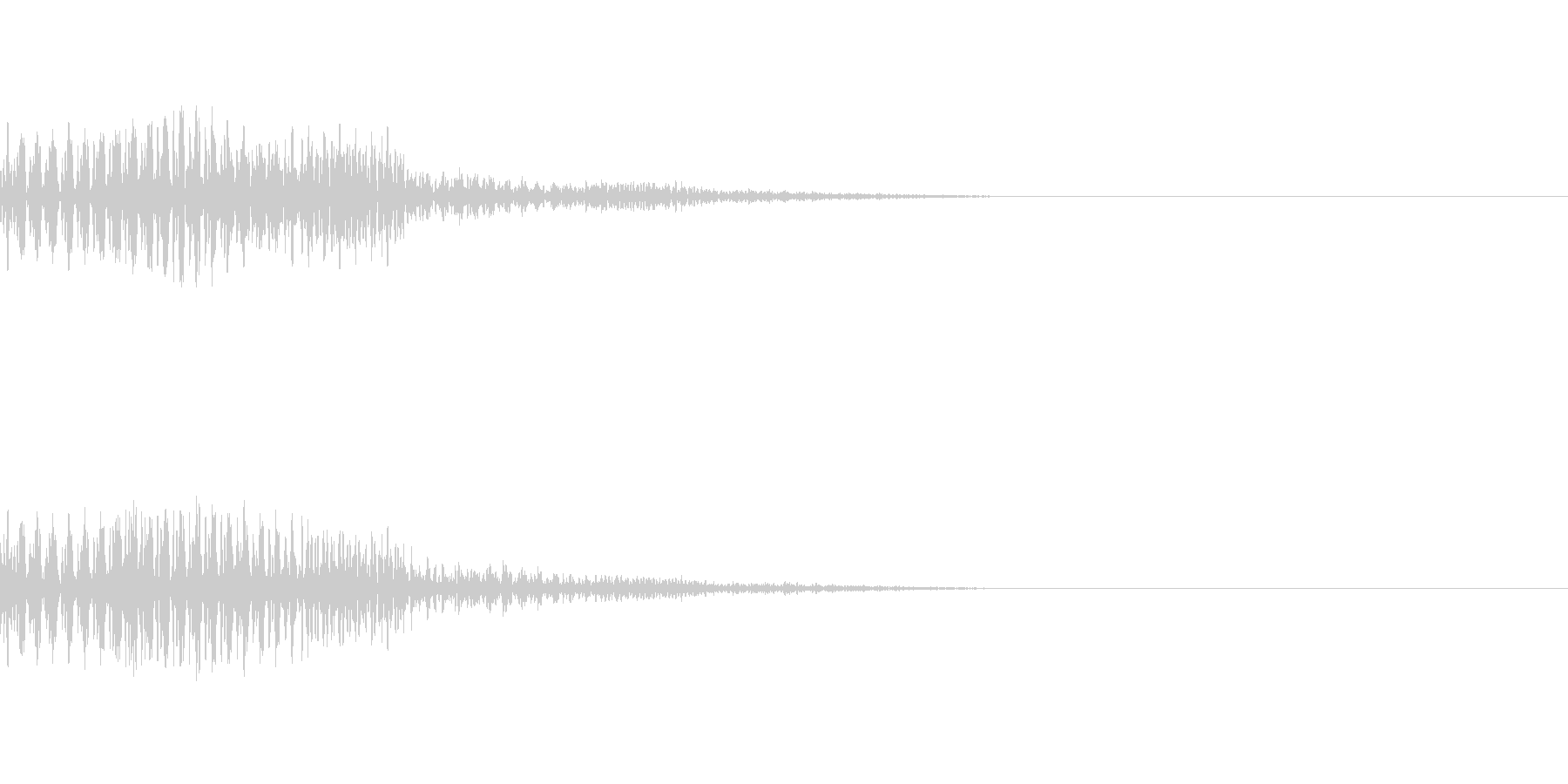 【Horror】NG【カーソル】の未再生の波形