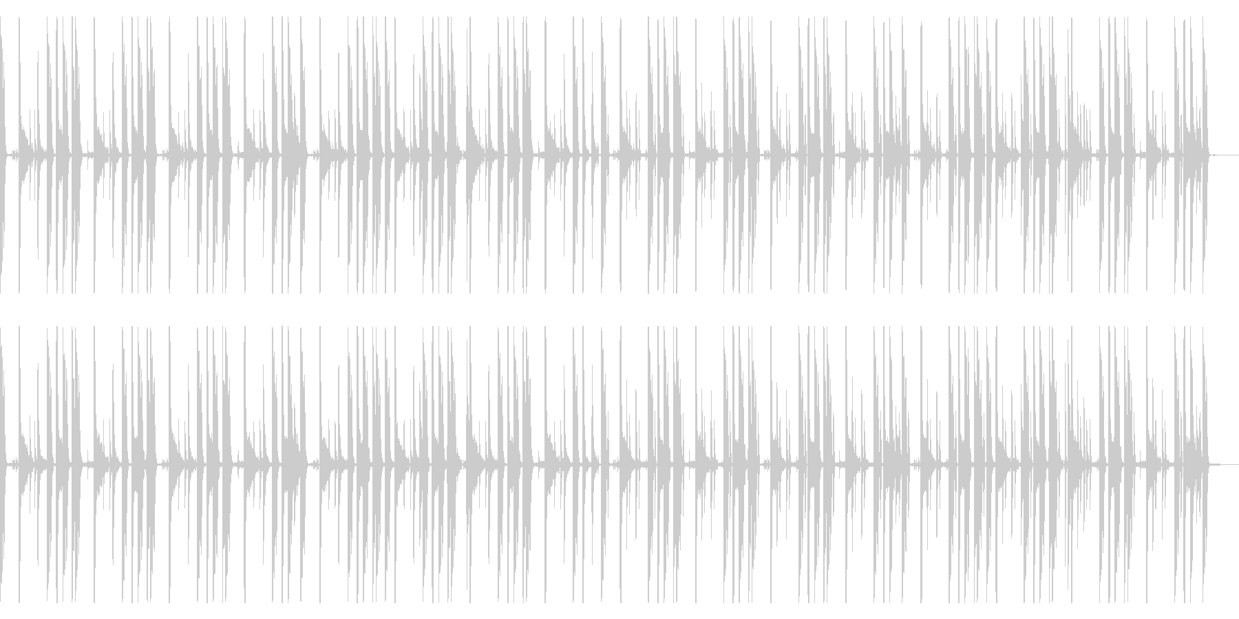 123 BPMの未再生の波形