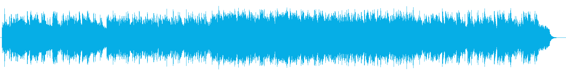 Peaceful piano relaxation music's reproduced waveform