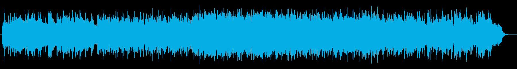 安らぎピアノリラクゼーションミュージックの再生済みの波形