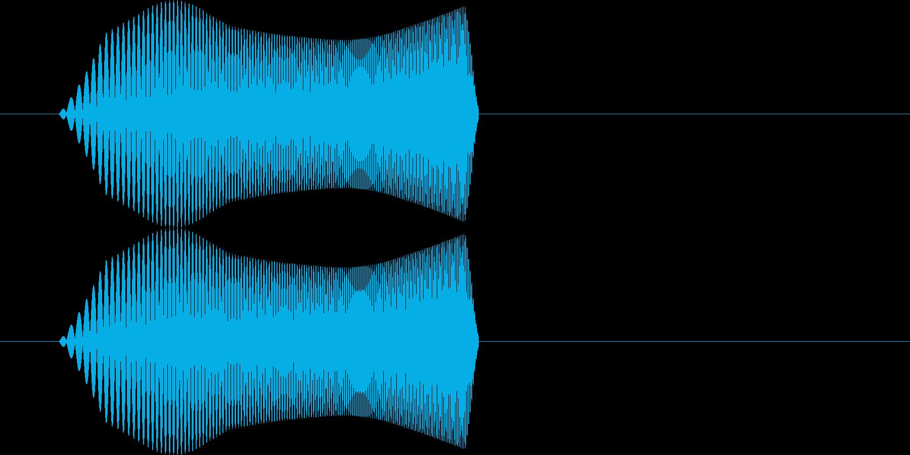 ポヨッ【飛ぶ、浮く、触れる、行動音】の再生済みの波形