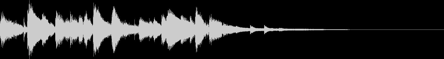 お洒落なジャズのジングル6 ゆったりの未再生の波形