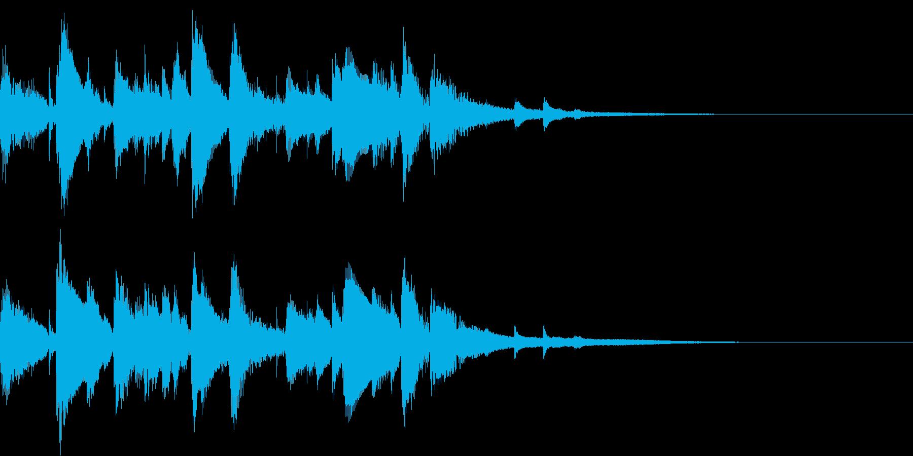 お洒落なジャズのジングル6 ゆったりの再生済みの波形