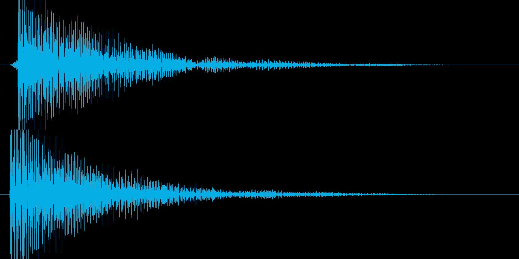 ピ(近未来的な決定音、落ち着いた感じ)の再生済みの波形
