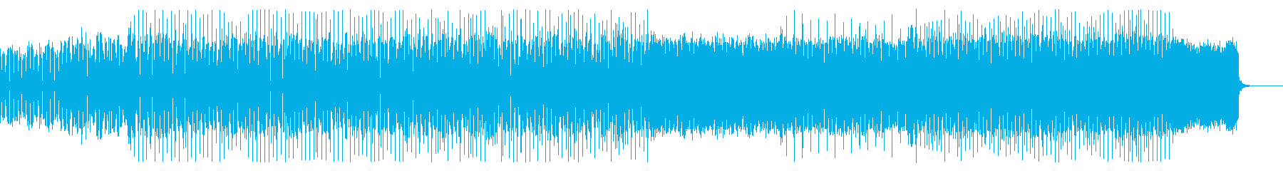 ハッピーで前向きなエレクトロポップスの再生済みの波形