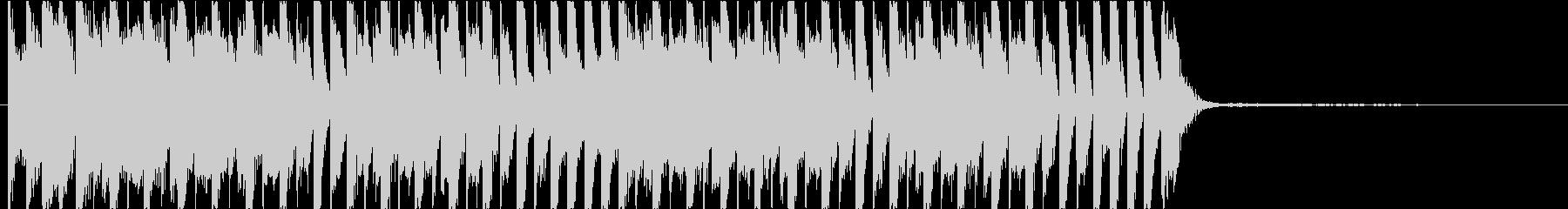 軽快なテクノジングル オープニングの未再生の波形