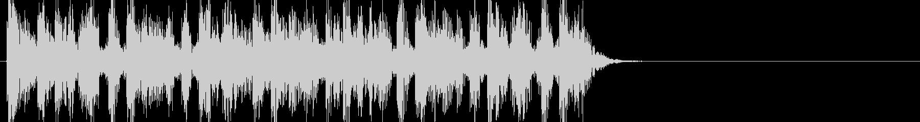 デトロイトテクノ調のジングル向きの短い曲の未再生の波形