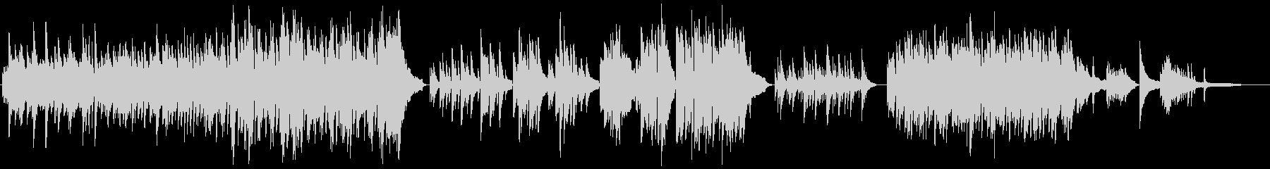 感動的な和風ピアノインストゥルメンタルの未再生の波形