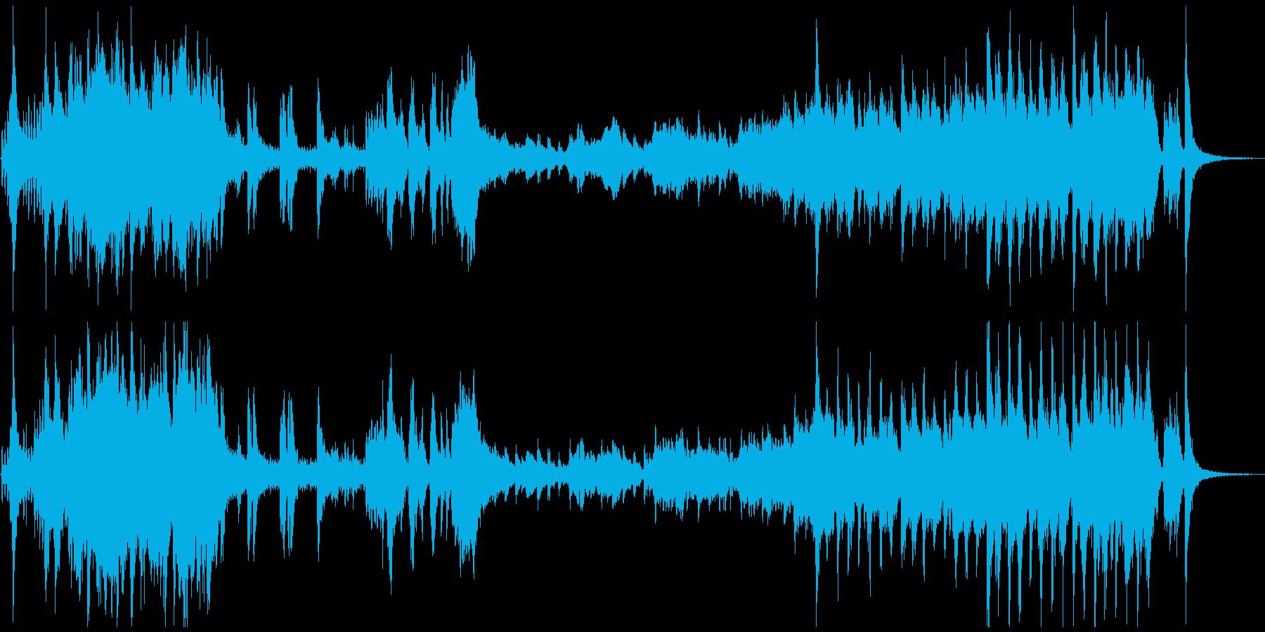 アドベンチャー映画音楽風のオーケストラ曲の再生済みの波形