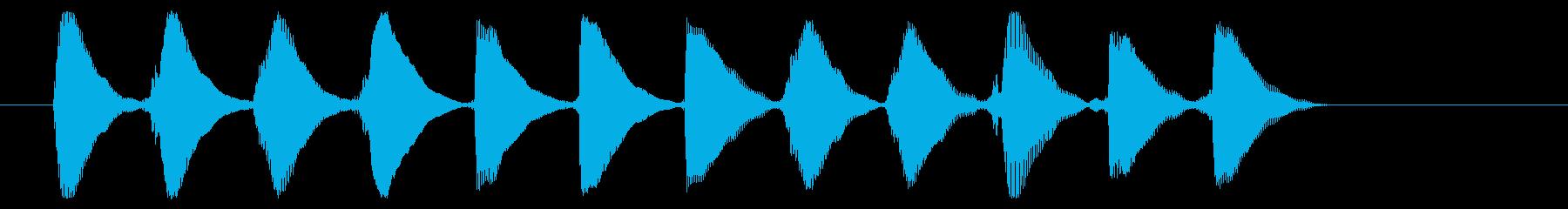 8ビット風システム音-16-4_dryの再生済みの波形