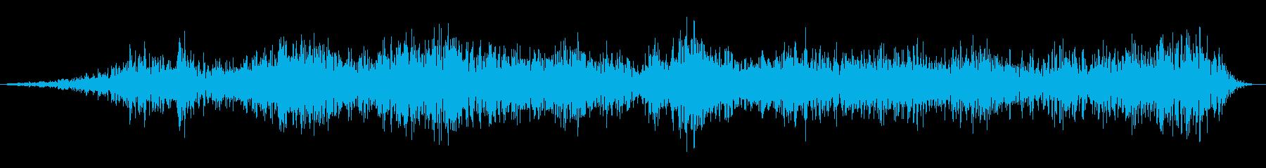 大釜の不気味なうめき声の再生済みの波形
