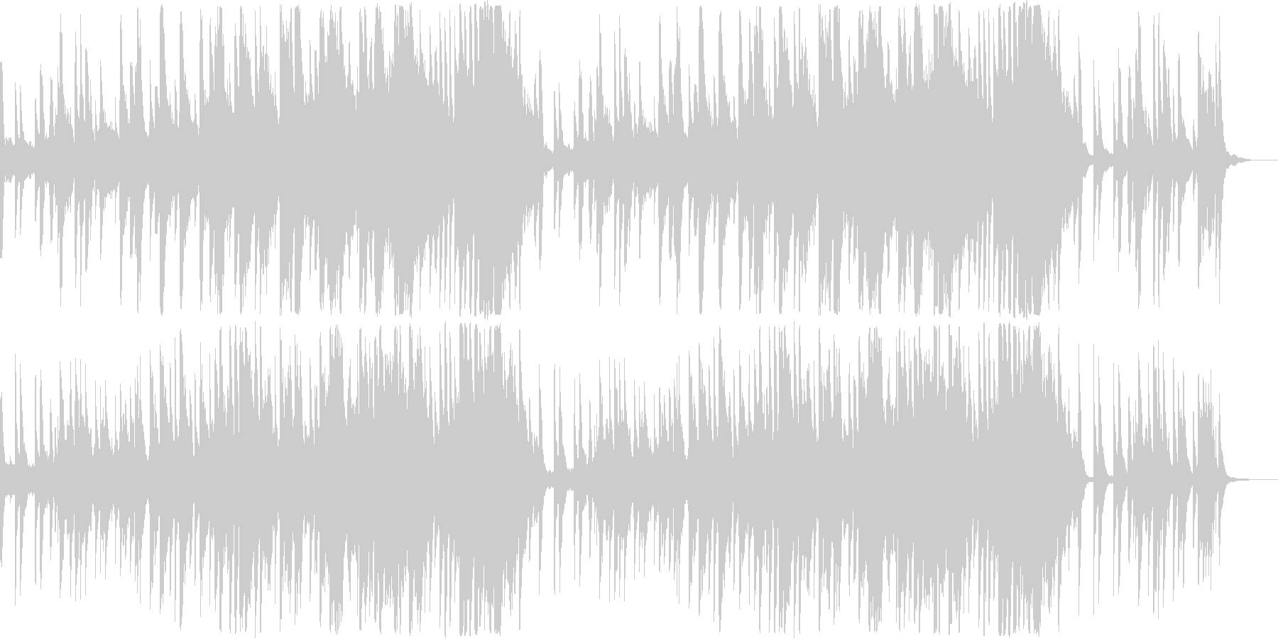 優しくて切ないピアノメロディの未再生の波形