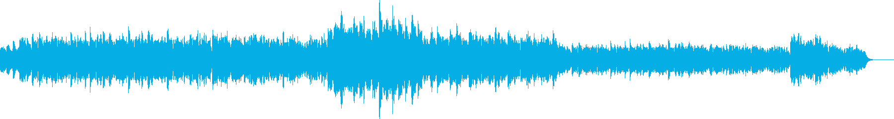 ほのぼのと遊んでいる様子の曲の再生済みの波形