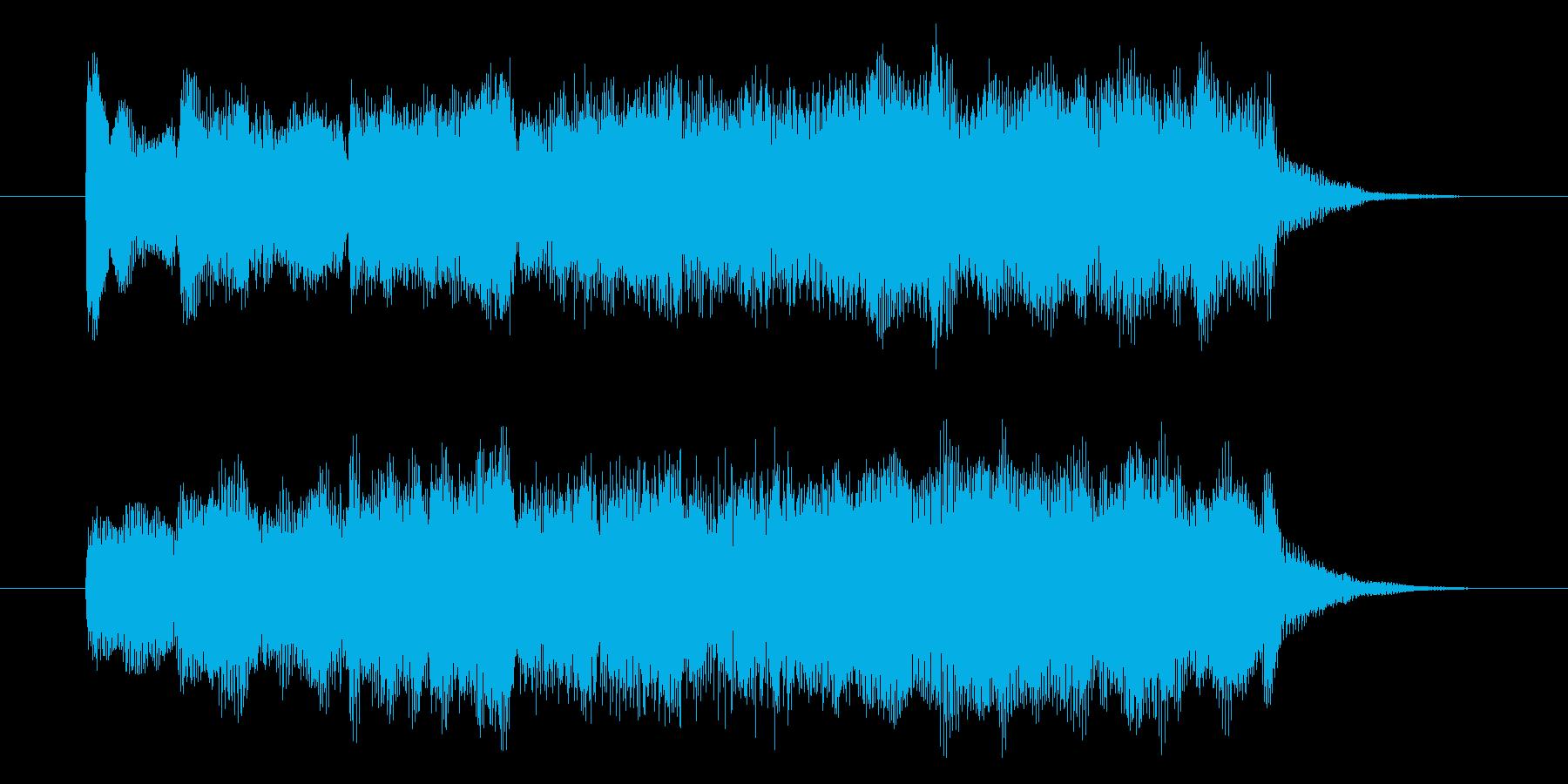 爽やかな朝イメージRPG宿屋風フルート曲の再生済みの波形