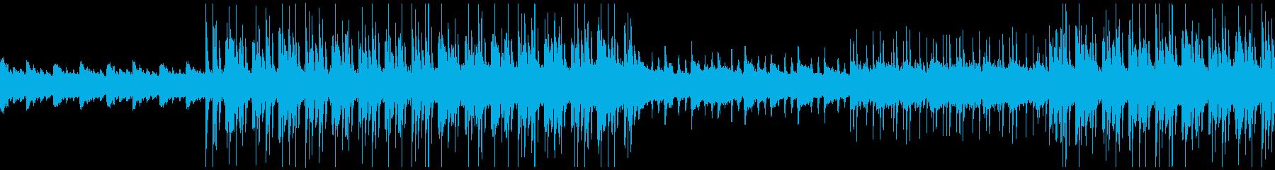 説明や紹介などに使える明るいループBGMの再生済みの波形