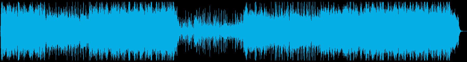 ピアノとストリングスによる落ち着いた曲の再生済みの波形