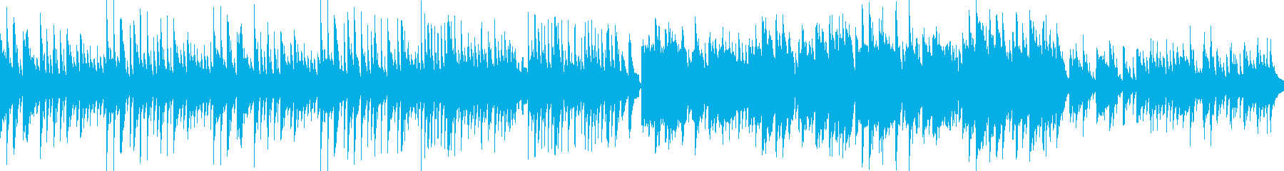 穏やかな町の癒しBGM(ループ版)の再生済みの波形